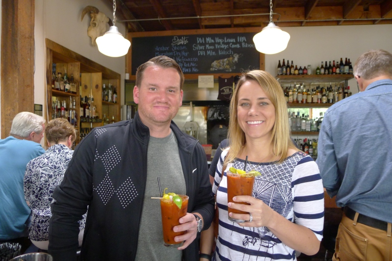 Bloody Marys and big smiles at Podnah's Pit barbecue brunch