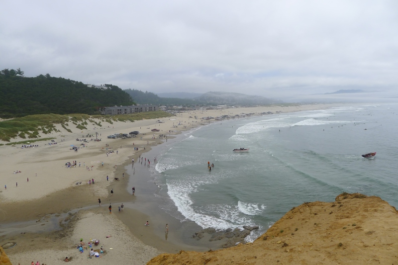 The Pacific City public beach from Cape Kiwanda