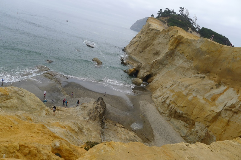 Looking down from Cape Kiwanda