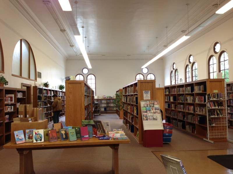Open, bright space inside - and lots of cheap books!