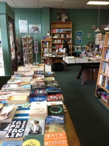 The spread at Broadway Books