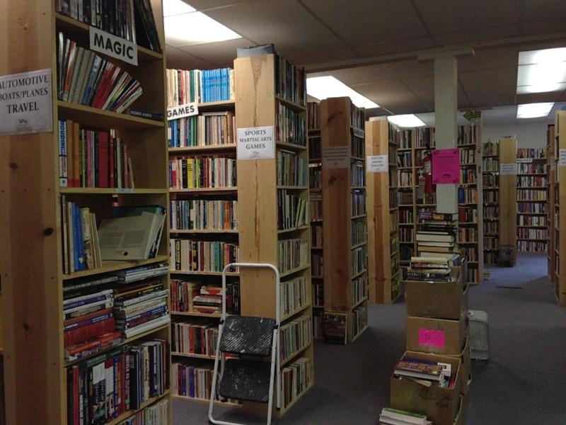 Shelves and shelves, books and books