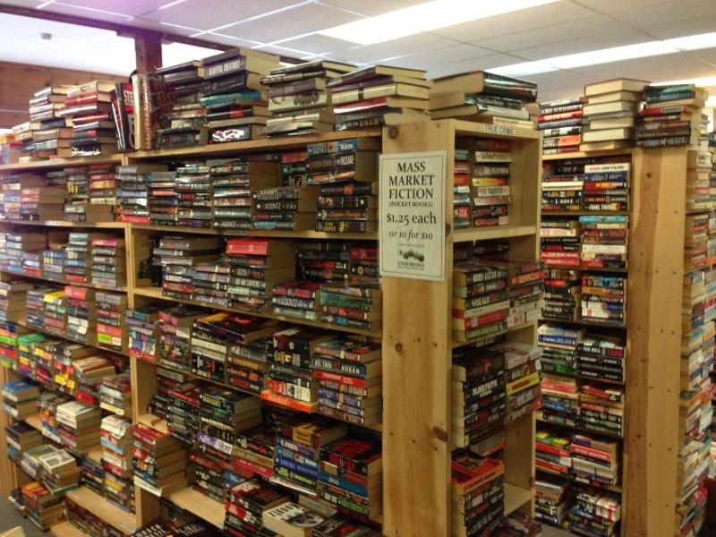 Stacks and stacks of paperbacks
