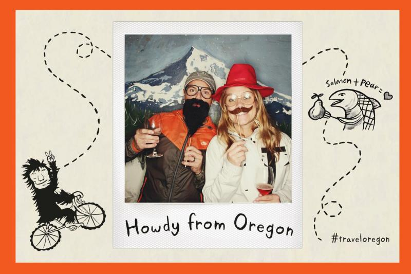 Mugging for the Travel Oregon photo booth