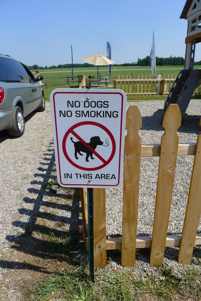 ...with no smoking dogs allowed