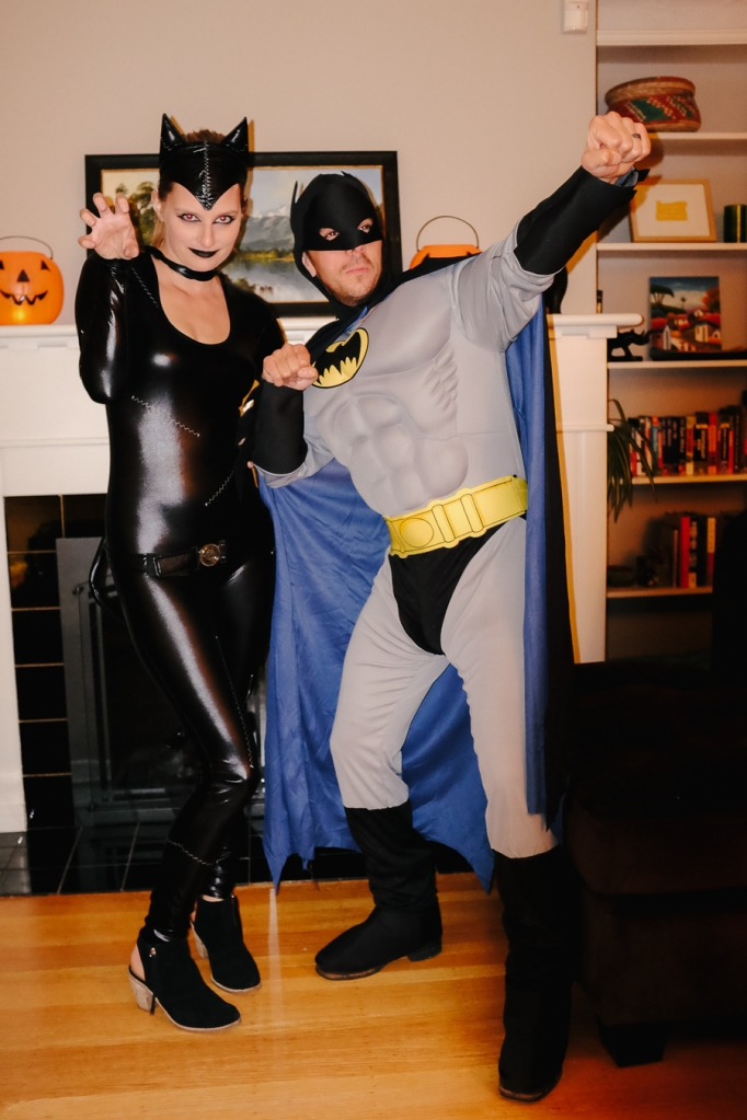Catwoman and Batman (aka Lindsay and Daniel)