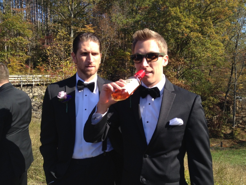 Chris and the groom, Jerry