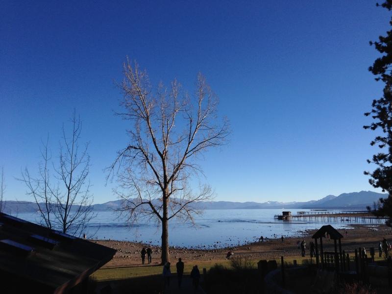 Bright blue skies, crystal blue water...