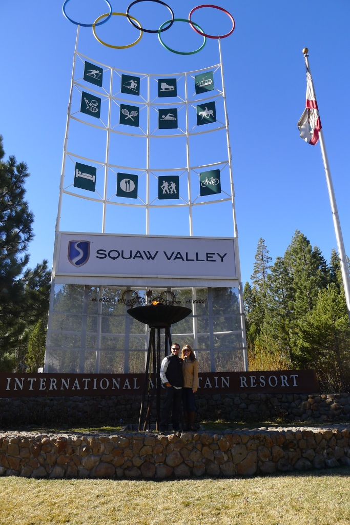 Posing near the Olympic flame at Squaw Valley