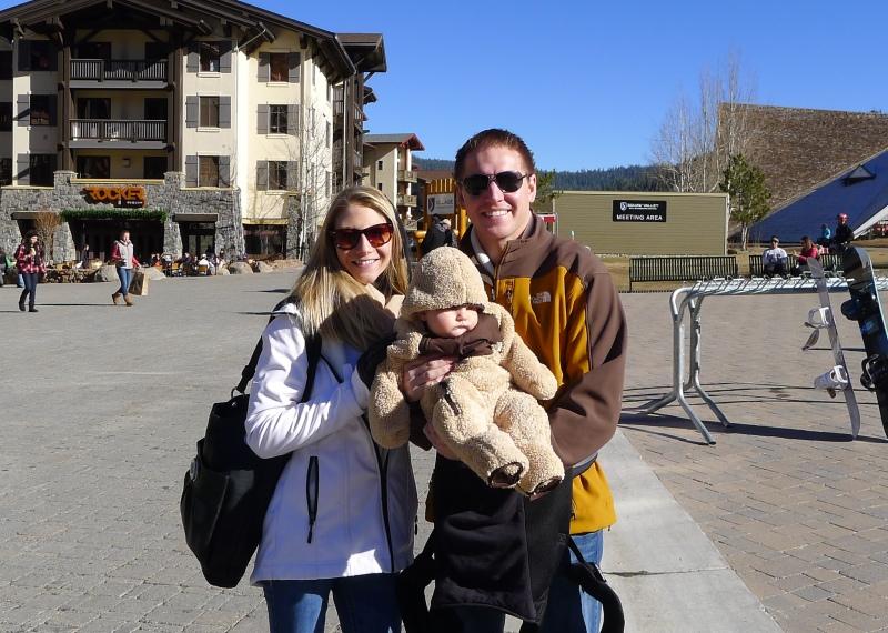 Lizzy, Jason and their fuzzy little bear cub