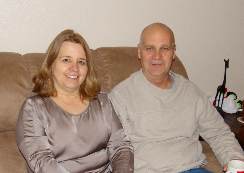 Mom and Dad looking remarkably fresh for 7 a.m. Christmas morning
