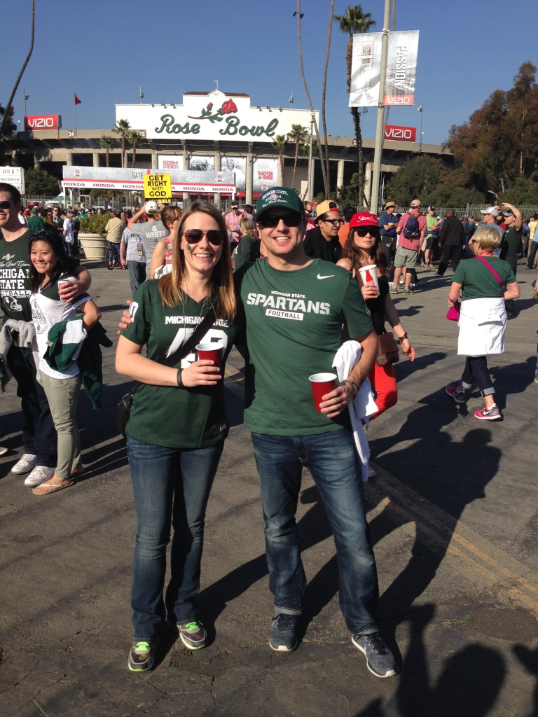 Can't believe we are at the Rose Bowl!