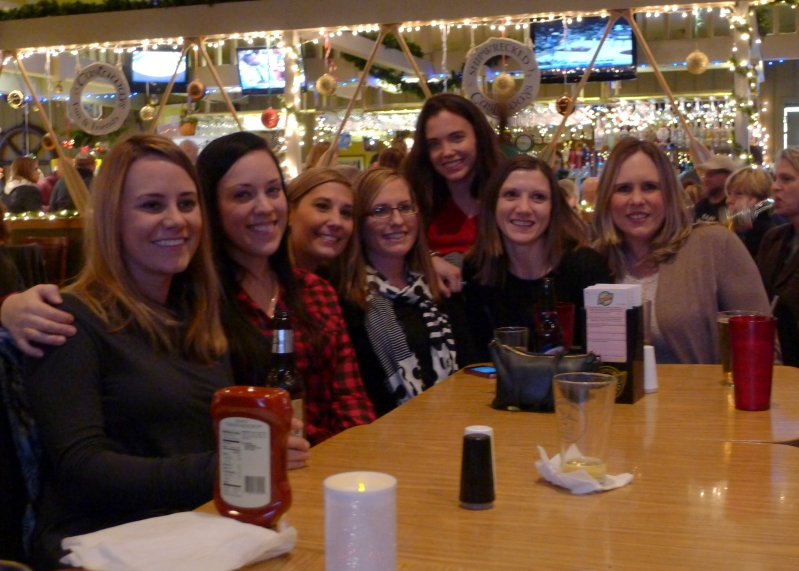 My faves! You may recognize them from our wedding party: me, Lesley, Ashley, Ashley, Rachel, Jenny and Vanessa