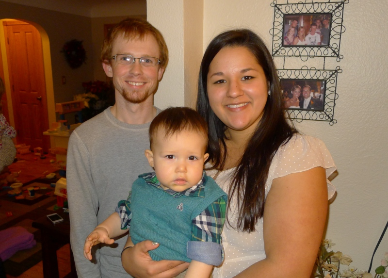 Great catching up with Muskegon-based cousins Justin, Nicole and little Kempton