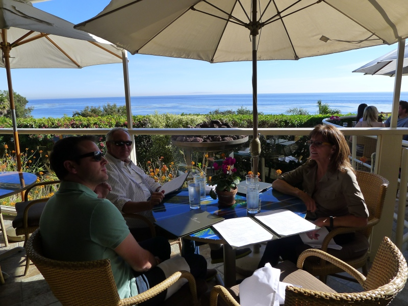 The gorg views from Geoffrey's Malibu restaurant