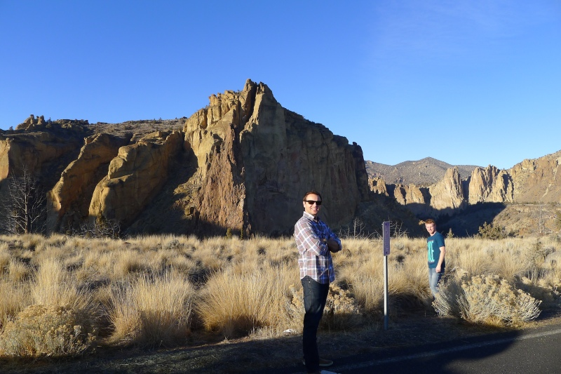 Jeff and Dave admiring Smith Rock
