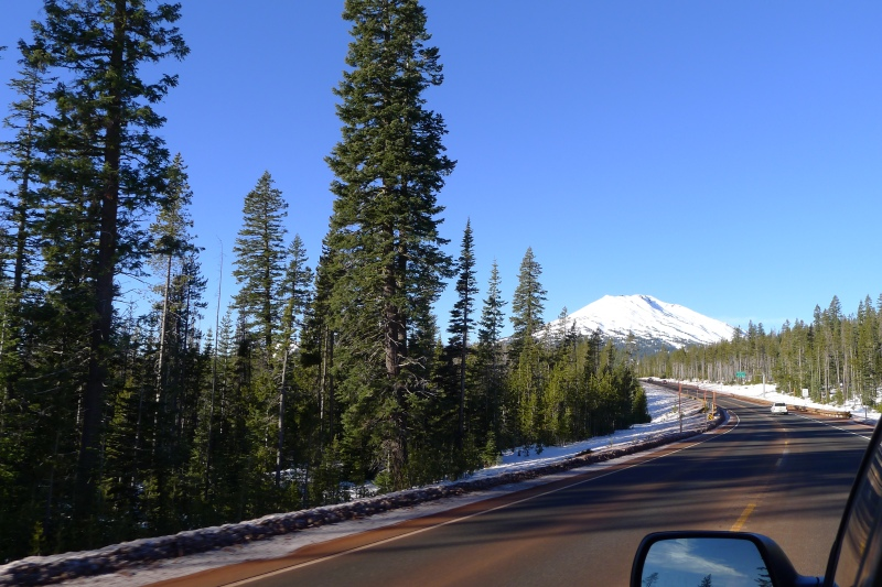 The ride up to Mt. Bachelor