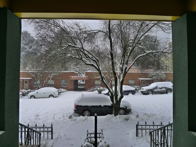 The view out our front door on Sunday morning