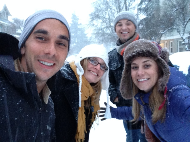 Let it snow! Hiking to 23rd Street on Thursday evening