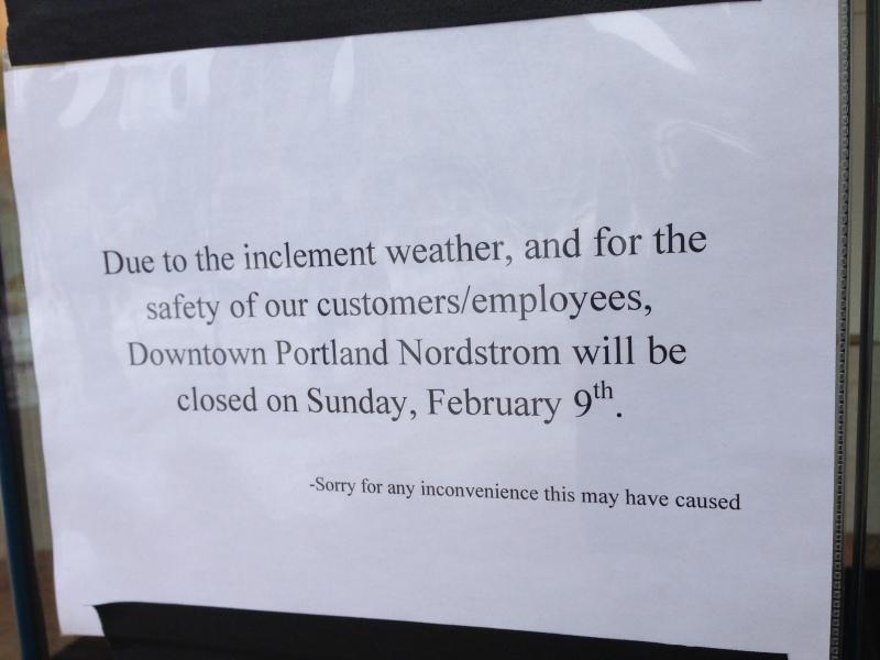 No Nordstrom today :(