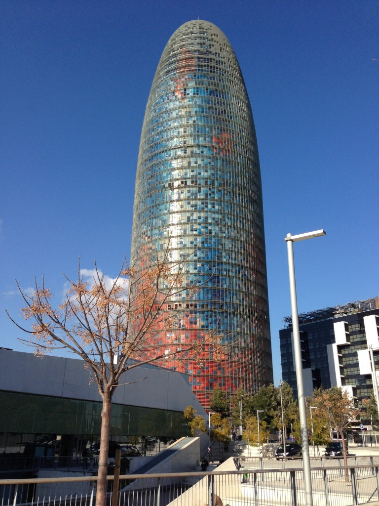 The  Torre Agbar, the 38-story tower near Disseny Hub