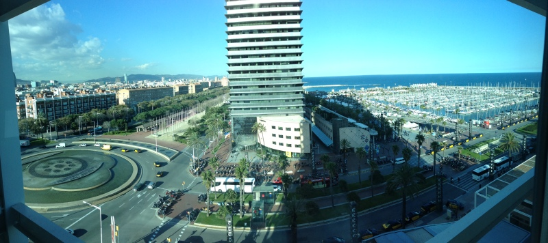 Panoramic view from my hotel room window