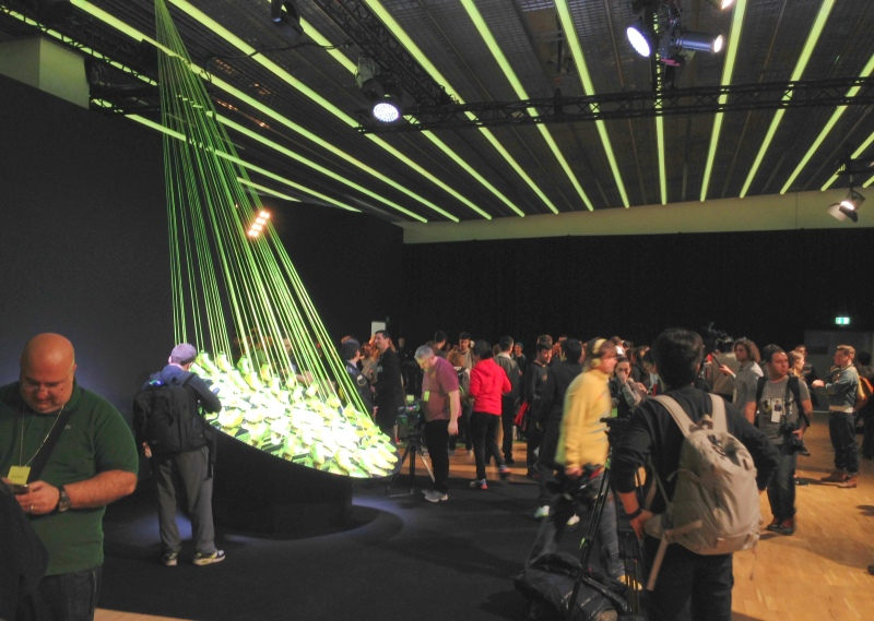 A sea of journalists at the Magista launch event