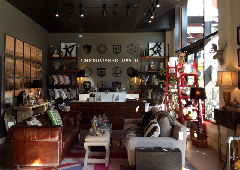 The more interior design side of the Christopher David shop