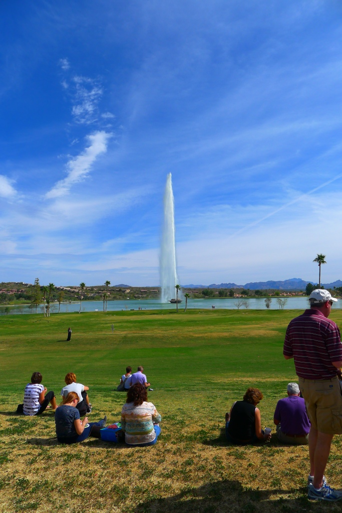 The fountain in Fountain Hills