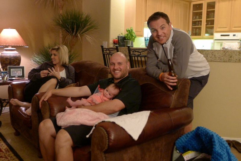 Rob and Jeff checking out their new little cousin, Lexi