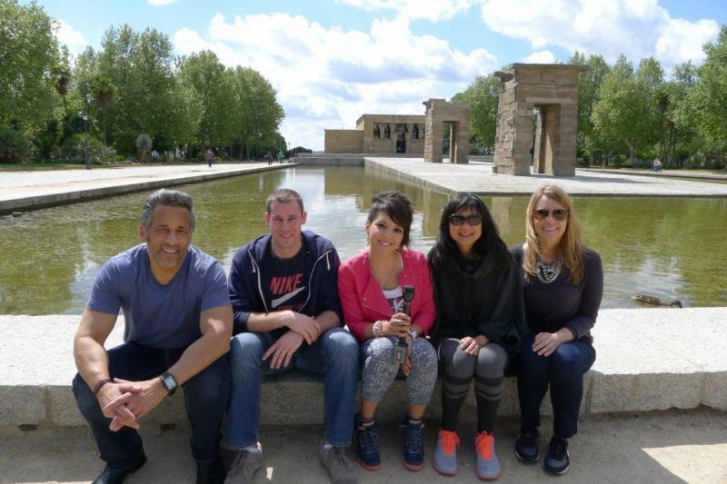 My work crew at Templo de Debod