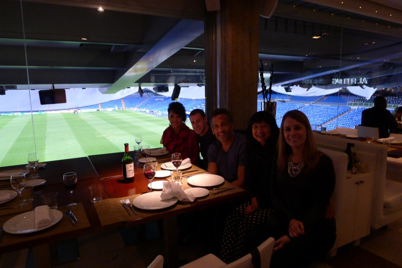 Dinner at the Real Madrid stadium, Santiago Bernabéu Stadium