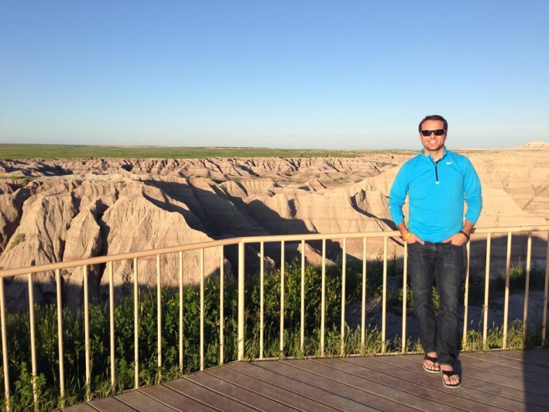 Enjoying the beauty of Badlands National Park in South Dakota
