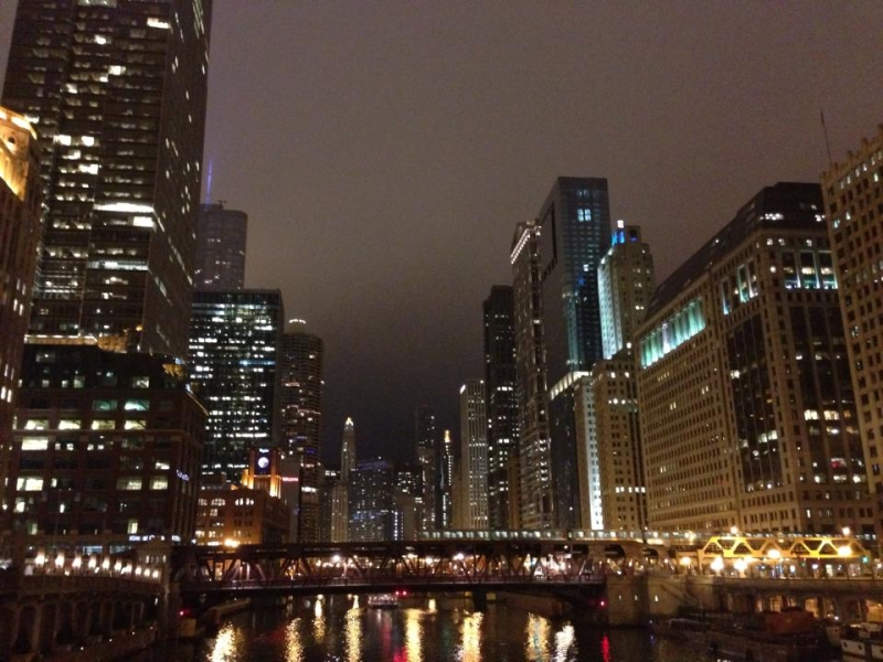 Hello, pretty city! We missed you, Chicago.
